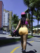 MikeInBrazil ™ presents Aline Rios in Booty On..