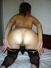 Wicked chicks and tight rump housewives posing in..