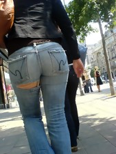 Biggest arse angels in jeans