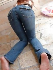 Massive rump cuties in jeans