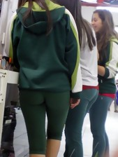 Sexy bubble arse legal age teenagers in yoga pants!