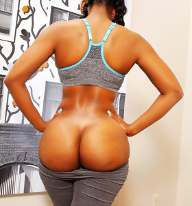 Sexy dark girls with round bum
